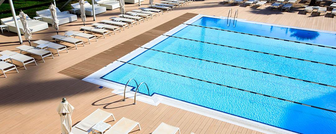 The first semi-olympic pool in a hotel in Playa de Palma