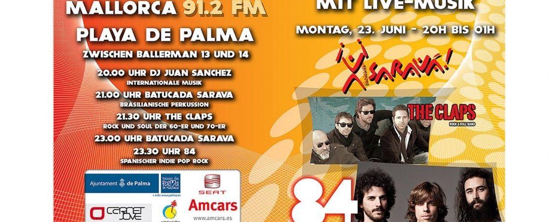 La mejor bienvenida al verano es celebrar un concierto en la Playa de Palma